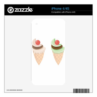 ice cream cone skin for the iPhone 4