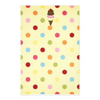 ice cream cone stationery