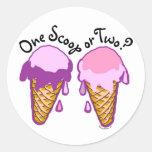 Ice Cream Cone Stickers