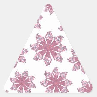Ice Cream Cone Swirls Triangle Sticker