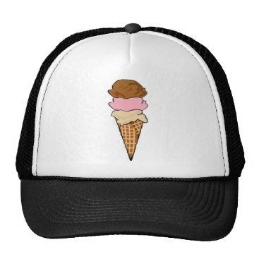 Beach Themed Ice Cream Cone Trucker Hat