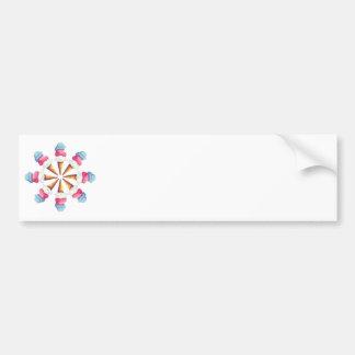 ICE CREAM CONE WHEEL by SHARON SHARPE Bumper Sticker