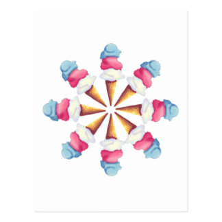 ICE CREAM CONE WHEEL by SHARON SHARPE Postcard