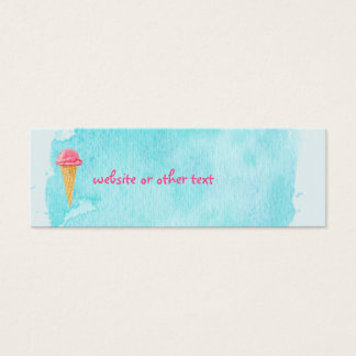 Ice Cream Cone With A Blue Paint Splatter Website Mini Business Card
