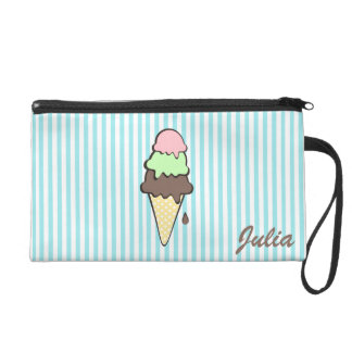 Ice Cream Cone Wristlet