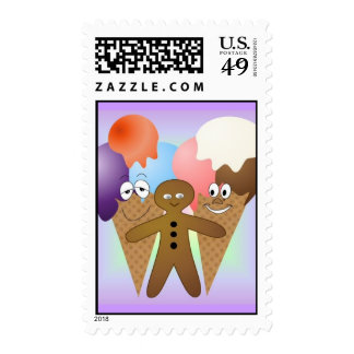 """""""Ice Cream Cones and Ginger Bread Man"""" Postage"""