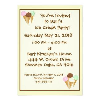 Ice Cream Cones Announcement