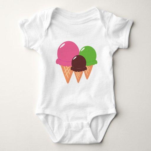 Ice cream cones baby clothes t shirts zazzle