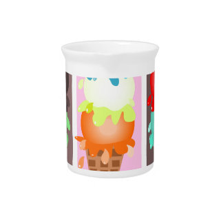 ice cream cones beverage pitcher