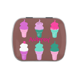 Ice cream cones candy tin
