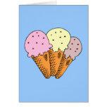 Ice cream cones card