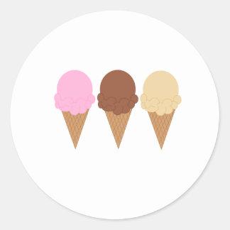 Ice Cream Cones Classic Round Sticker