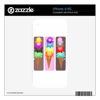 ice cream cones decals for iPhone 4S
