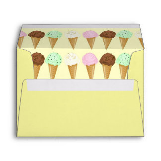 Ice Cream Cones Envelopes