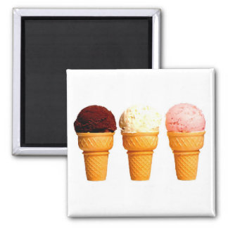 """Ice Cream Cones"" Fridge Magnet"