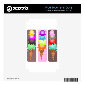 ice cream cones iPod touch 4G skins