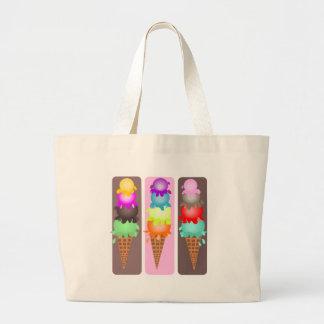 ice cream cones large tote bag