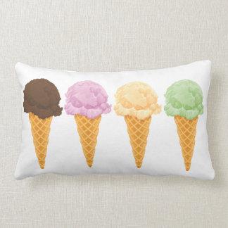 Ice Cream Cones Lumbar Pillow