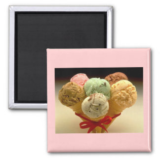 Ice Cream Cones! 2 Inch Square Magnet
