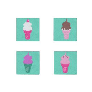 Ice cream cones magnet set