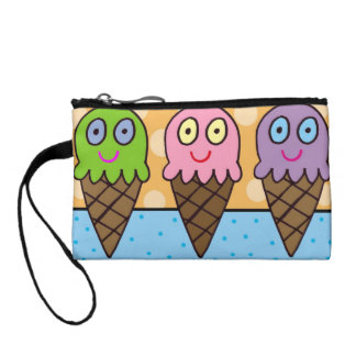 Ice cream cones mini wristlet! coin purse