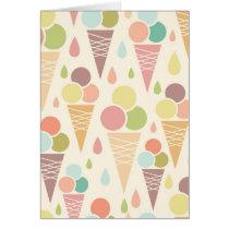 Ice cream cones pattern