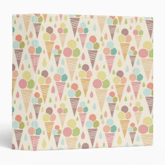 Ice cream cones pattern vinyl binders