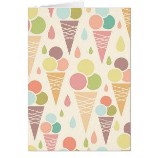 Ice cream cones pattern greeting card