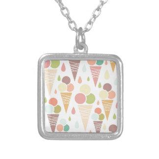 Ice cream cones pattern custom necklace