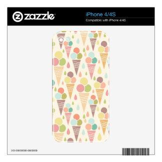 Ice cream cones pattern skin for iPhone 4S