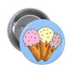 Ice cream cones pinback buttons
