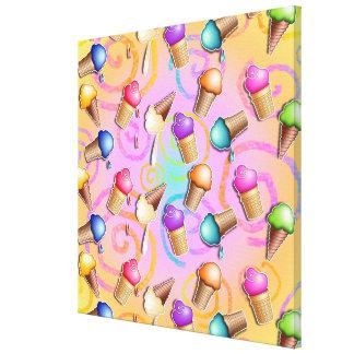 Ice Cream Cones Pop Art (multi) Gallery Wrapped Ca Canvas Print
