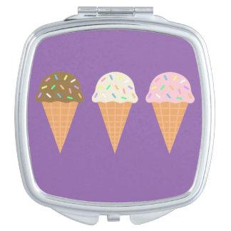 Ice Cream Cones Square Compact Mirror