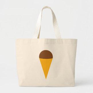 ice-cream cornet icon large tote bag