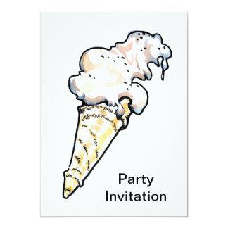 Ice Cream Cornet Party Invitation