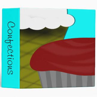 Ice Cream Cupcake Recipe 3 Ring Binder