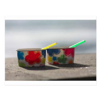 Ice cream cups postcard
