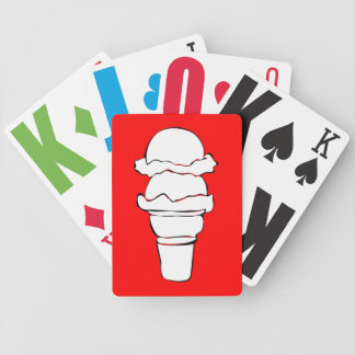 ice cream curls bicycle playing cards