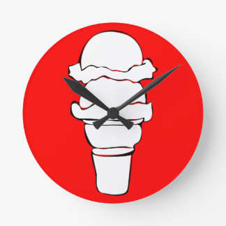 ice cream curls round clock