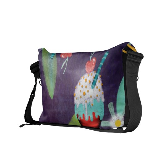 Ice cream Dark Purple Rickshaw Messenger Bag