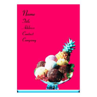 ICE CREAM  - DESERT SHOP,blue pink black Large Business Cards (Pack Of 100)