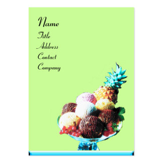 ICE CREAM  - DESERT SHOP,blue red green black Large Business Cards (Pack Of 100)