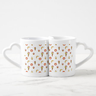 Ice Cream, Donuts & Cupcakes Design Coffee Mug Set