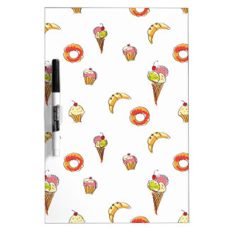 Ice Cream, Donuts & Cupcakes Design Dry-Erase Board