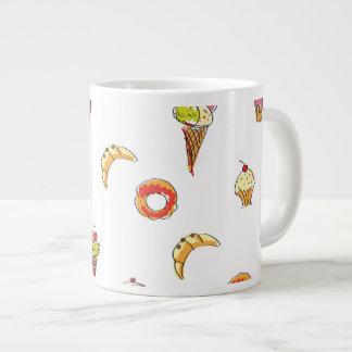 Ice Cream, Donuts & Cupcakes Design Large Coffee Mug