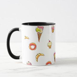 Ice Cream, Donuts & Cupcakes Design Mug