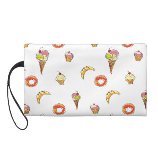 Ice Cream, Donuts & Cupcakes Design Wristlet Purse