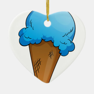 Ice-cream Double-Sided Heart Ceramic Christmas Ornament