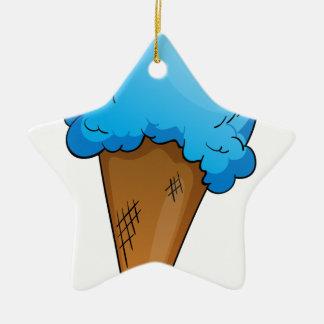 Ice-cream Double-Sided Star Ceramic Christmas Ornament