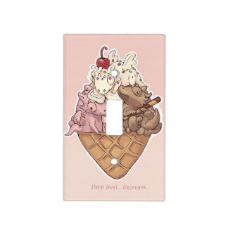 Ice Cream Dragon Derps Light Switch Cover